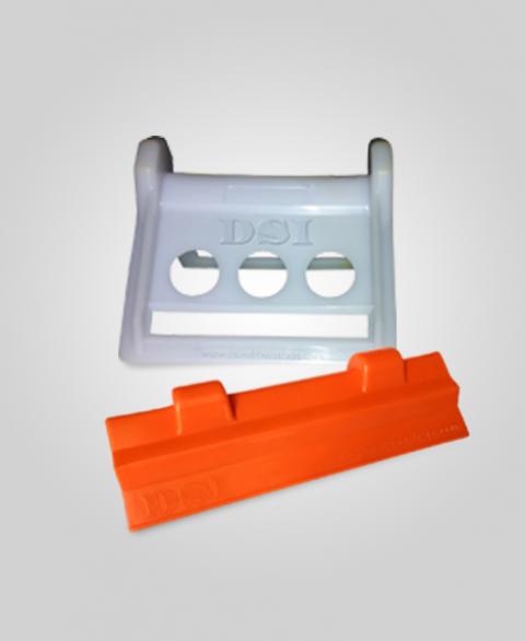 Plastic Corner Protectors White Orange